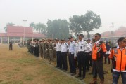 Dishub HSU bersama Polres HSU Melaksanakan Pengamanan Upacara HUT Kemerdekaan RI ke 74 di Lapangan Pahlawan